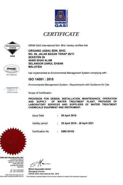 ISO 14001 (SIRIM) Sham Alam